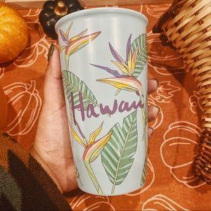 Starbucks | NWT Hawaii Palm Leaf Ceramic Tumbler